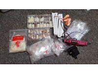 Nail extension products, nail salon, beauty salon, uv lamp, nail polish, sterilizer,tips, nail drill