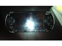Psp game console and extras
