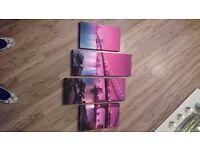 Purple Bridge Canvas