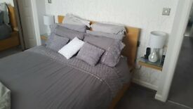 Malm king size bed and drawers