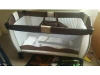 Baby cot plus a lot of extras