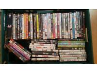Crate of 57 dvds