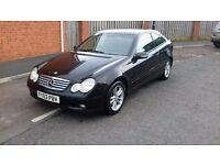 2003 MERCEDES C220 CDI SE AUTOMATIC COUPE FULL MERC SERVICE HISTORY