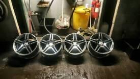 19 Mercedes AMG alloys alloy wheels fit Audi Vw Seat 5-112
