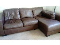 Dark Chocolate corner leather sofa