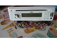marine stereo cd mp3 and radio with remote control