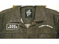 RARE Vans X Iggy Pop Raw Power Denim Jean Jacket Size M