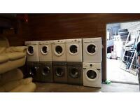 Selection of factory reconditioned washing machines,6 months warranty & pat test,high spec& kg £125