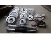 20KG CHROME DUMBBELL WEIGHTS SET - BRAND NEW & BOXED UP