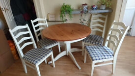 Good Quality Solid Pine Dining Table and Chairs