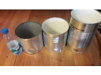 Large Tins for plant pots or artwork - Free