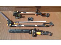 Cordless garden power tools bundle