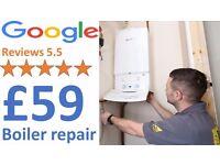 Boiler Repair £59/Worcester or Vaillant + Installation £1499/Boiler Service £59/Gas Certificate £59