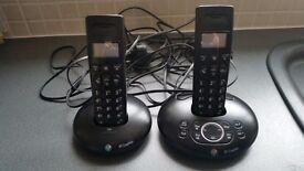 BT Graphite 1500 twin Phone set With Answer Machine