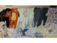 Baby Boy 3-6 months Vests & Baby Grow Bundle 2