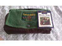 Brand new/ unused Tweedmill branded waterproof picnic rug