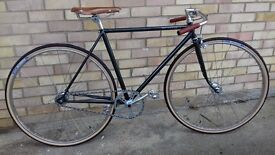 Vintage Style Path Racer Fixed Wheel Custom Bicycle Raleigh by Apps Cycle Works