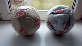 Signed aberdeen footballs