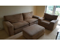 4 Seater Sofa with Chair and footstool