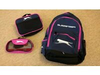 BRAND NEW Pink Slazenger sports/lunch/school bag rucksack