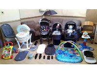 iCandy Peach Pushchair Pram Stroller Maxi Cosi Car Seat Rain Cover Cosi Toes + Lots More Bargain