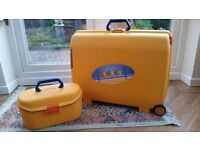 Vintage Samsonite Matching Suitcase and Vanity case