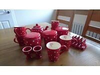 Tea, Coffee jars, mugs & breakfast set £35 ono
