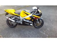 suzuki gsxr 750 k2 immaculate condition only 17000 miles, rides perfect.