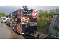 Catering Trailer festival mobile food van restaurant cooking Lpg griddle chip fryer bain marie