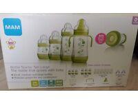 Never Used - New - MAM Green Large Anti Colic Bottle Starter Set - £30