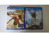 Starwars Battlefront and Final Fantasy Type 0