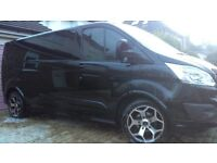 Ford Transit Custom SPORT body kit & tailgate spoiler-NEW painted in PANTHER BLACK LWB bodykit