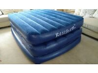 Raised double airbed
