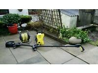 Karcher pressure washer , hose and underchasis washer accessory.