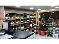 Off Licence -WINE SHOP- for quick sale £5,800.00