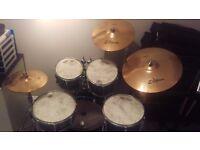 Yamaha Stage Custom 5 piece kit plus cymbals and hardwear