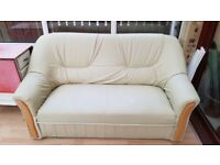 Sofa,cream two seater