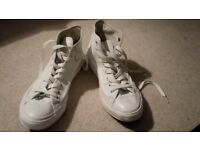 White Converse High Top Trainer / Boots / Size 8