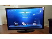 "Ultra Slim 40"" SAMSUNG LED TV full hd ready 1080p, freeview"
