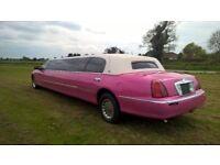 Beautiful Spec Pink Limo Wave limousine Wedding , Prom , Hen night ready
