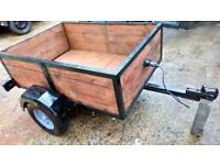 Car trailer ideal for quad bike any motorbike. It's a very good condition it's like brand new