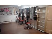 HAIRDRESSER'S/BARBER'S CHAIR to rent in shared salon.