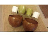 6 x Terracotta pots various sizes