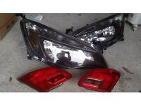 Left hand drive headlights. Fits vauxhall Astra Hatchback2013