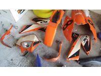 Motorbike plastics for ktm/yzf
