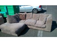 Cord corner sofa