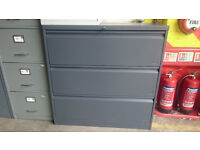 Grey 3 drawer filing unit