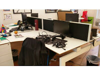 Used office desks, great condition. Free if picked up Friday 30th September from the Strand office
