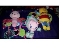 Bundle of cute toys incl lullaby light up butterfly