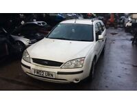 2002 Ford Mondeo LX Estate 1.8L Petrol White BREAKING FOR SPARES